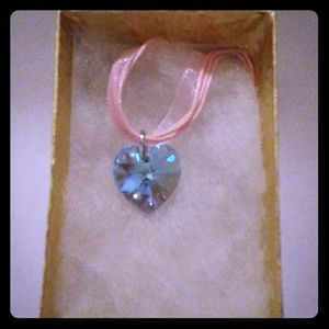 Jewelry - Pacific Blue Crystal Heart Necklace